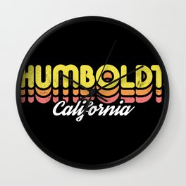 Retro Humboldt California Wall Clock