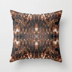 Triple Chocolate Caramel Melt Throw Pillow