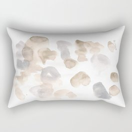 180630 Black Brown Neutral Grey Abstract Watercolour 3 | Watercolor Brush Strokes Rectangular Pillow