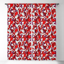 Retro . Bright colorful pattern . Blackout Curtain