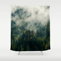 fog Shower Curtains featuring Fog by EclipseLio