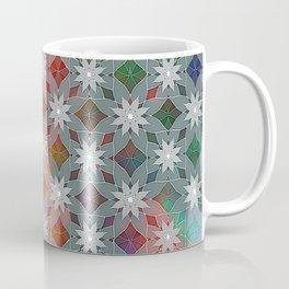 Abstract Star Flower Pattern Coffee Mug