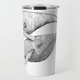 A Couple Of Whales  by Michelle Scott of dotsofpaint studios Travel Mug