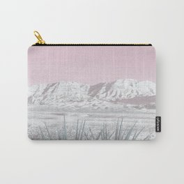 Mojave Snow // Red Rock Canyon Las Vegas Desert Landscape Light Pink Sky Vintage Photography Carry-All Pouch
