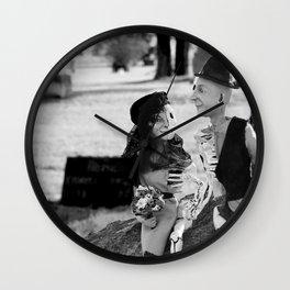 Halloween Skeleton Lovers Wall Clock