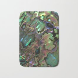 Oil Slick Abalone Mother Of Pearl Bath Mat