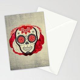 Red SKULLS Stationery Cards