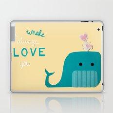 I Whale Always Love You Laptop & iPad Skin
