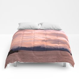 Rose Quartz Over Hope Valley Comforters