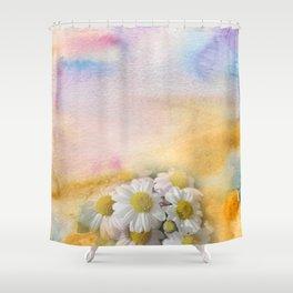 Window Curtains - Watercolour Shower Curtain