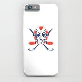 Hockey Mask Winter Sports Ice Hockey Player Gift iPhone Case