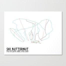 Ski Butternut, MA - Minimalist Trail Art Canvas Print