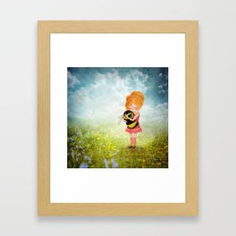 Bee Whisperer - Save the Bees Framed Art Print