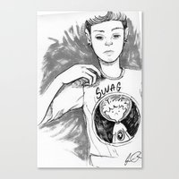 swag Canvas Prints featuring Swag by Jesus Rodriguez