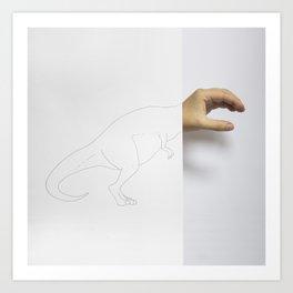 Handsaurus Rex Art Print