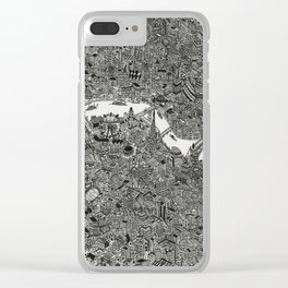London map drawing ink pen Clear iPhone Case