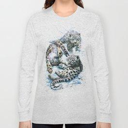 Little snow leopards Long Sleeve T-shirt