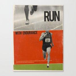 Run with Endurance Canvas Print