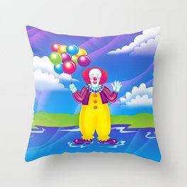 1997 It's That Scary Clown Throw Pillow