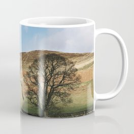Sunlit tree and hillside. Edale, Derbyshire, UK. Coffee Mug
