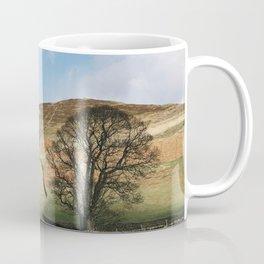 Sunlit tree and hillside. Edale, Derbyshire, UK. Coffee Mug