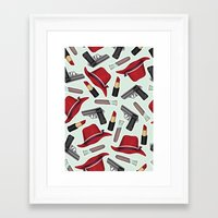 peggy carter Framed Art Prints featuring Peggy Carter Pattern by HayPaige