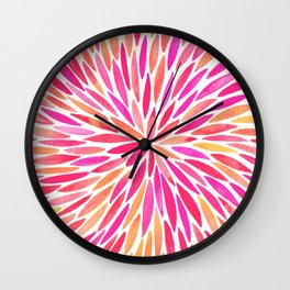 Watercolor Burst – Pink Ombré Wall Clock