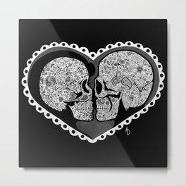 Eternal Love Black & White Metal Print