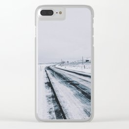 Icy Road Clear iPhone Case