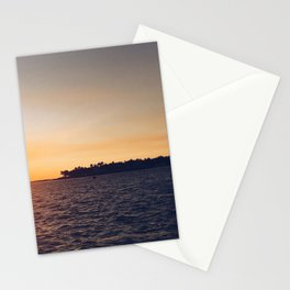 Island at Sunset Stationery Cards