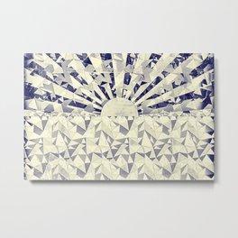 Origami sea sunset Metal Print