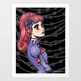 Pink Hair Gothic Lolita Art Print