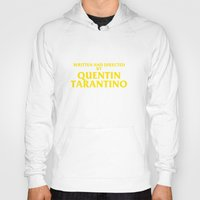 tarantino Hoodies featuring Written And Directed By Quentin Tarantino by FunnyFaceArt