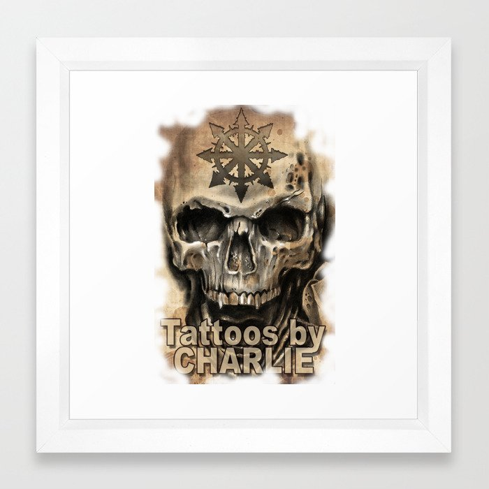 Tattoos by Charlie Framed Art Print by gettattoo | Society6