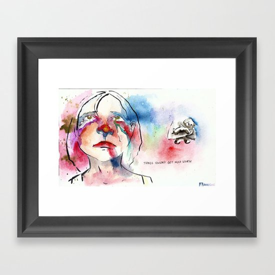 Things couldn't get much worse Framed Art Print