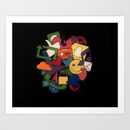 Social Media Networks Art Print