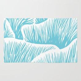 Mushroom Bouquet - Light Blue Rug