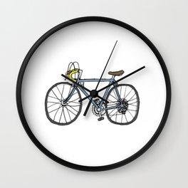 Vintage Bicycle (original blue + yellow) Wall Clock