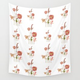 Pink Poppy Wall Tapestry