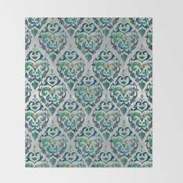 Persian Oriental  pattern abalone and pearl Throw Blanket