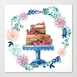 Cake Wreath Rose Chocolate Canvas Print