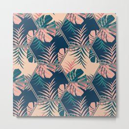 Miami Tiles #society6 #decor #buyart Metal Print
