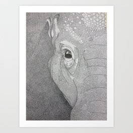 A mazing elephant II Art Print