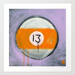 "13 (2011), 17"" x 17"", acrylic on gesso on chipboard Art Print"