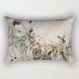 """Exotics at Play"" by Duncan Carse Rectangular Pillow"