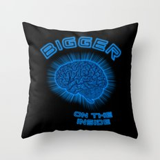 Thoughts And Radical Dreams Inside Skull Throw Pillow