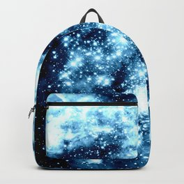 Ice Blue Galaxy Star Clusters Backpack