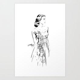 Grace Kelly Sketch Art Print