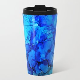 Blue Petunias Travel Mug