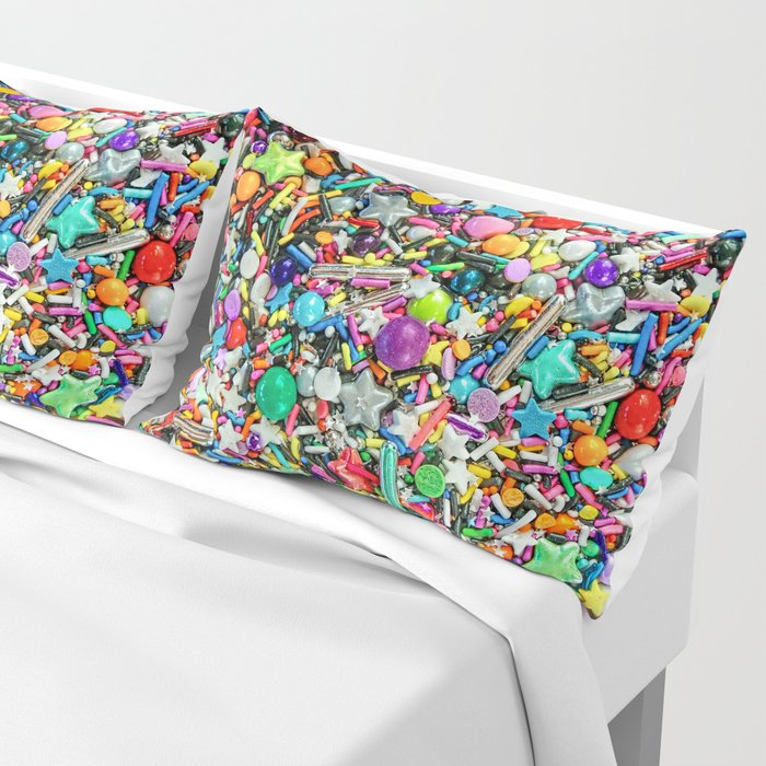 Rainbow Sprinkles - cupcake toppings galore Pillow Sham by foxfires